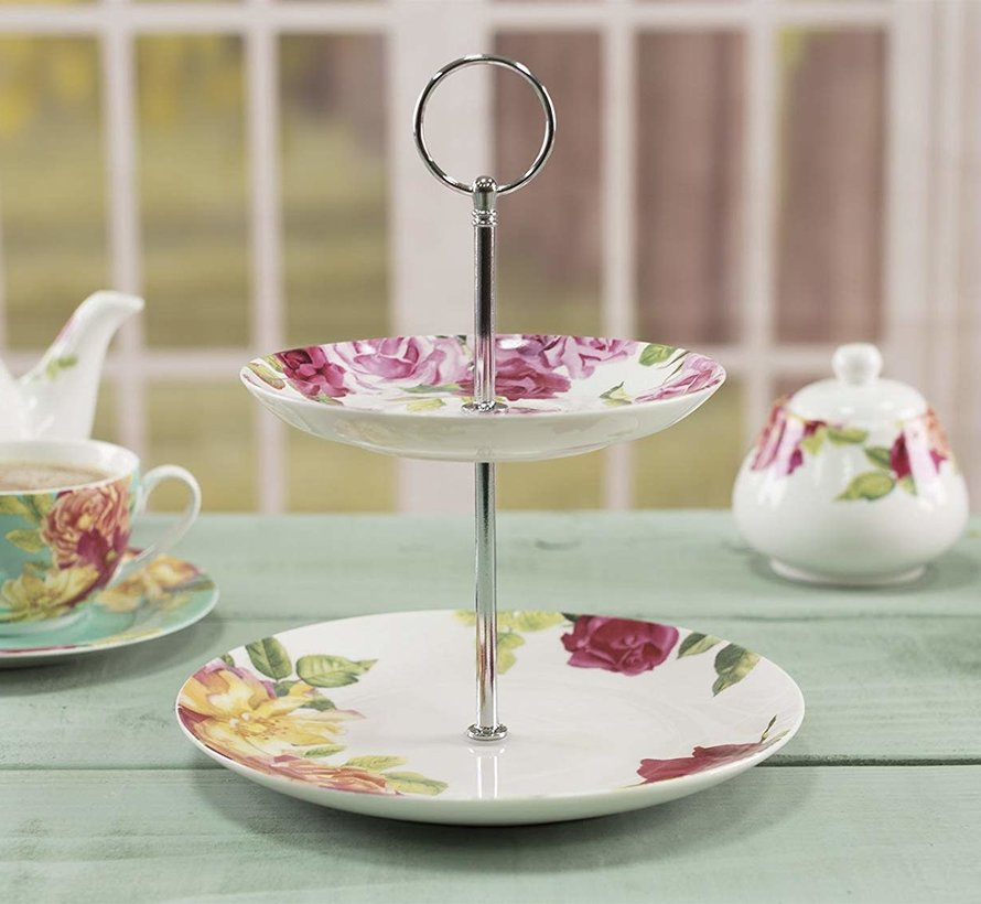 Southbourne Rose; 2 laags Etagere