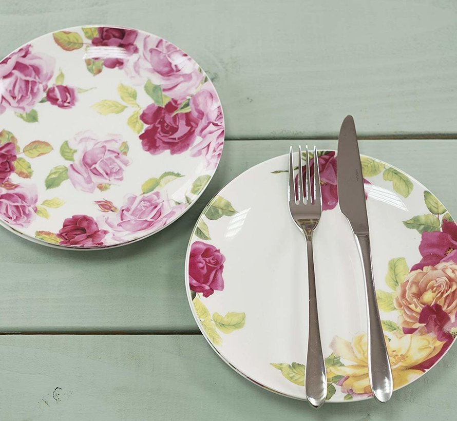 Southbourne Rose; Set 4 borden gebloemd
