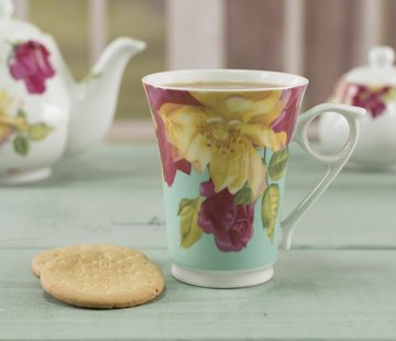 Kew Gardens; Engels servies met bloemen Copy of Southbourne Rose; Set 4 borden gebloemd