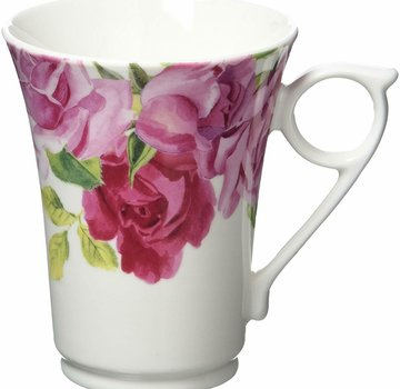 Kew Gardens; Engels servies met bloemen Copy of Southbourne Rose; hoge mok mintgroen