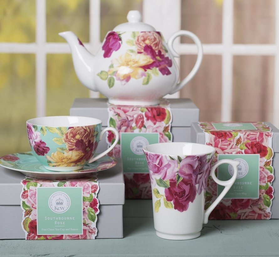 Southbourne Rose; hoge mok rozen wit