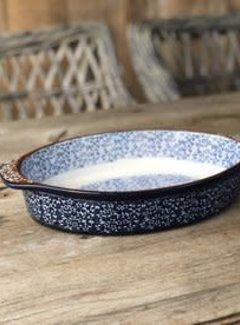 Lavandoux-Ceramics; Prachtige ovenschalen Ovenschaal blauw ovaal