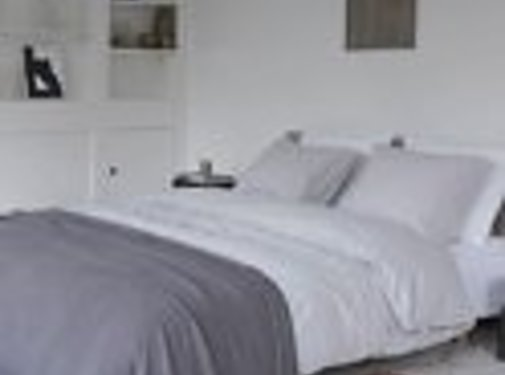 Walra Bed & Badgoed Walra Dekbedovertrek Stewart Vintage Licht grijs