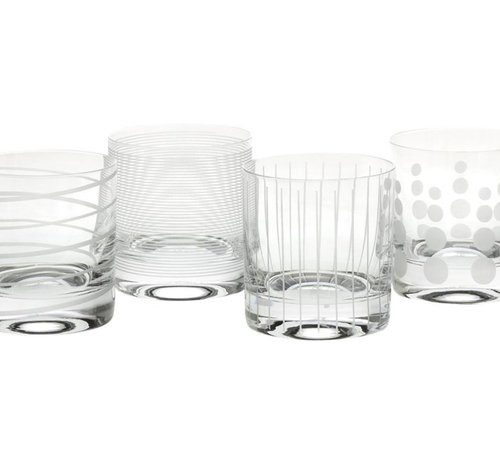 Mikasa Serviezen Mikasa Cheers Waterglazen, Whiskeyglazen Set 4