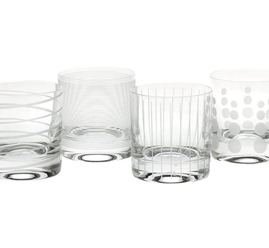 Mikasa Cheers Waterglazen, Whiskeyglazen Set 4