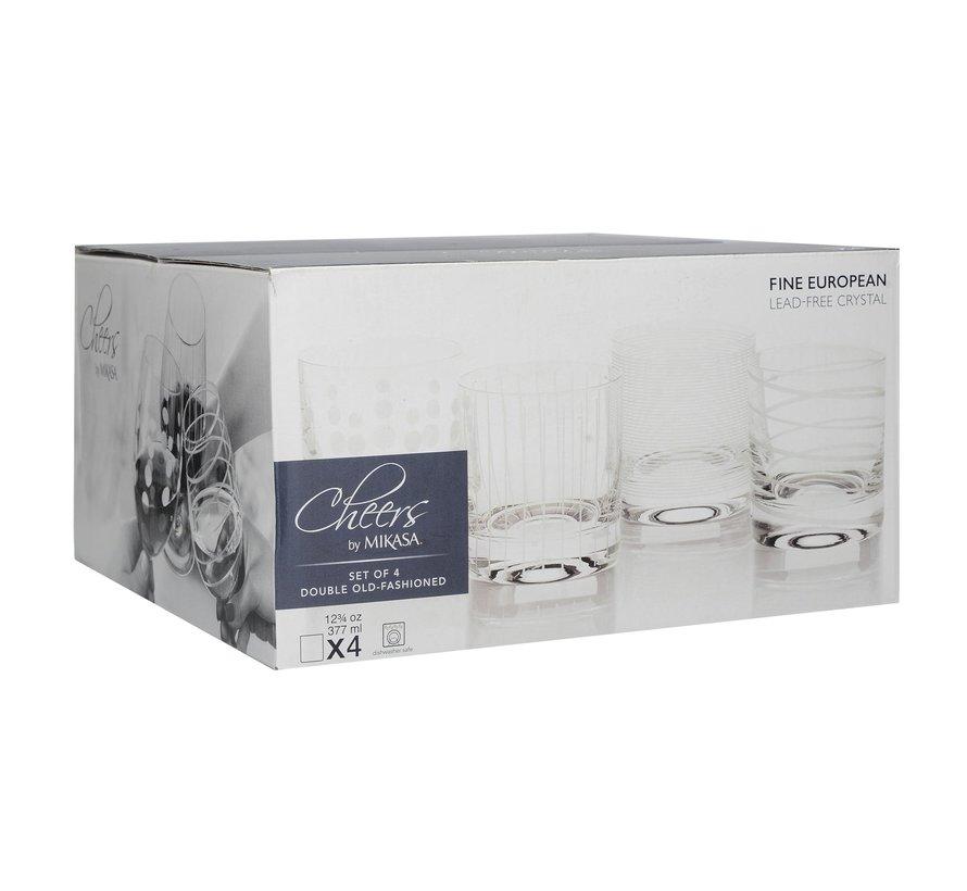 Mikasa tumbler whiskey glazen Cheers set/4