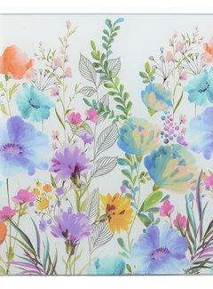 KitchenCraft; Engelse Kwaliteitsprodukten Glazen Snijplank, werkbladbeschermer Meadow