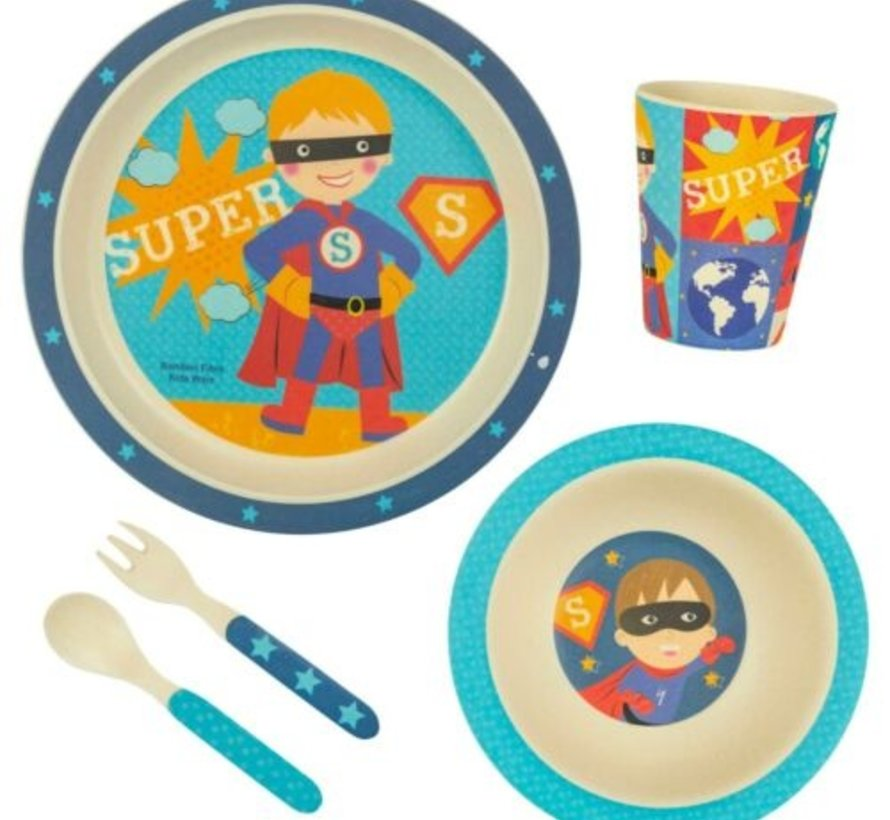 Bambo Kinder dinerset Super Hero 5 delig