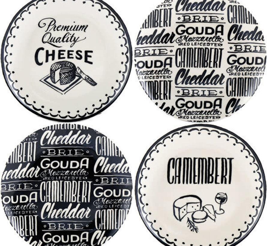 Gourmet Cheese Set van 4 kaasborden