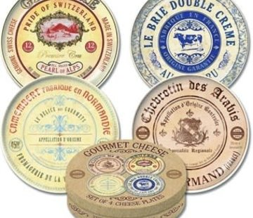KitchenCraft; Engelse Kwaliteitsprodukten Gourmet Cheese Set van 4 kaasborden assorti