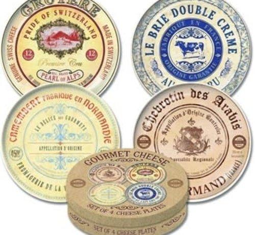 KitchenCraft; Engelse Kwaliteitsprodukten Copy of Gourmet Cheese Set van 4 kaasborden