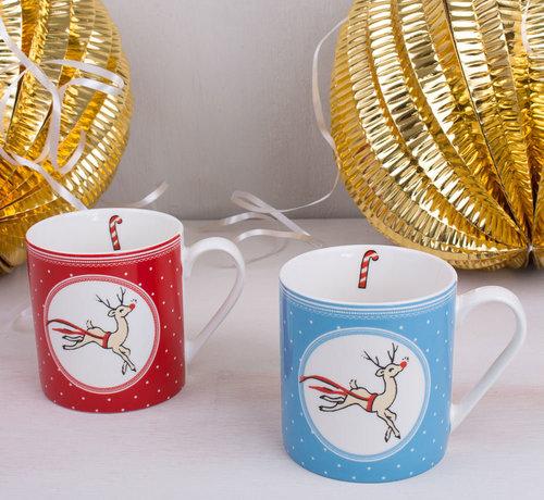 Katie Alice Copy of The Yuletide Sleigh Ride Kerstmok Katie Alice rood