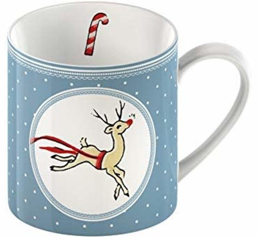 Yuletide Sleigh Ride Kerstmok Katie Alice blauw