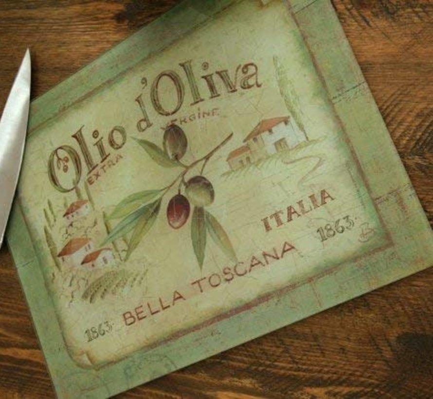 Glazen werkbladbeschermer Olio d'Olivia