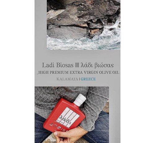 Ladi Biosas; Griekse streekprodukten Griekse olijfolie keramische rode fles Ltd. 700ml
