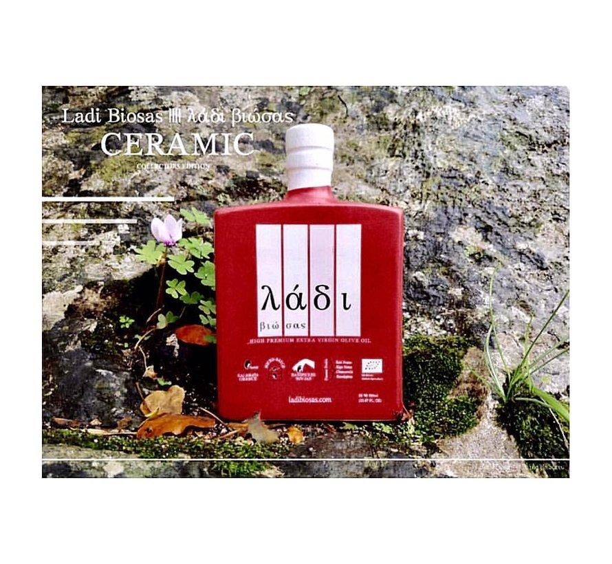 Griekse olijfolie keramische rode fles Ltd. 700ml