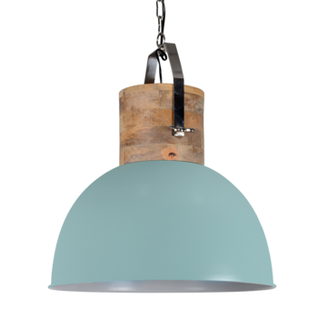 Couronne Copy of Industriele Hanglamp Fabriano vintage green 30 cm.