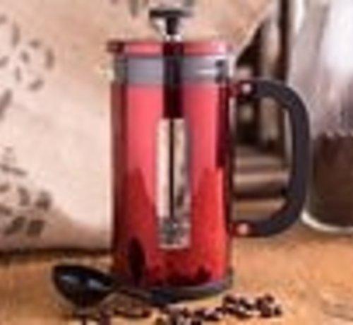 La Cafetiere; Cafetieres & Espressomakers La Cafetière Pisa; hittebestendig glazen cafetière rood 8 kops