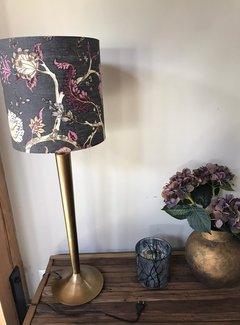 Zisensa, private collection Unieke woonaccessoires lampenkap grijs met bloemen