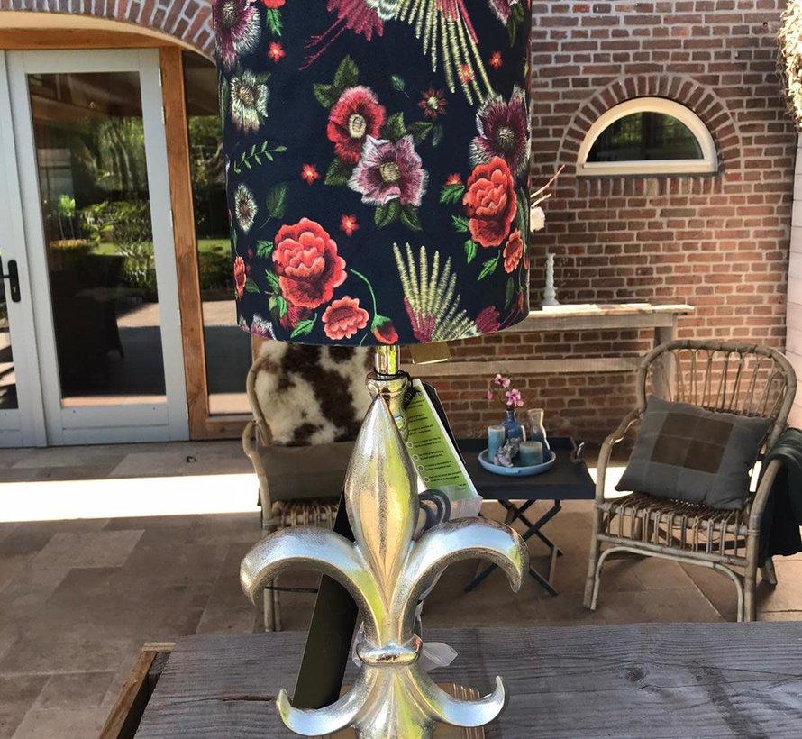 Colmore Lampenkap fluweel bloem