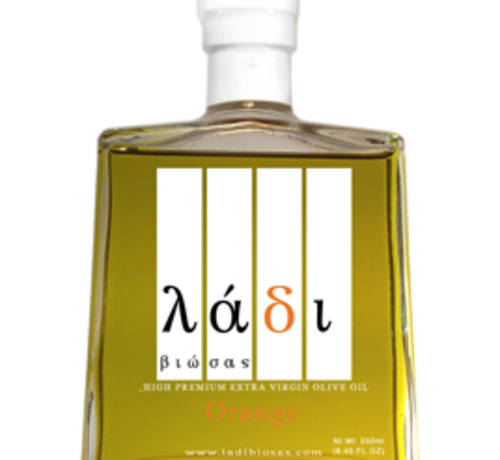 Ladi Biosas; Griekse streekprodukten Griekse Agrumato Olijfolie & Orange 250 ml.