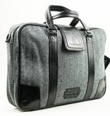 Thomas - Tweed Laptop Bag - Grey/Black