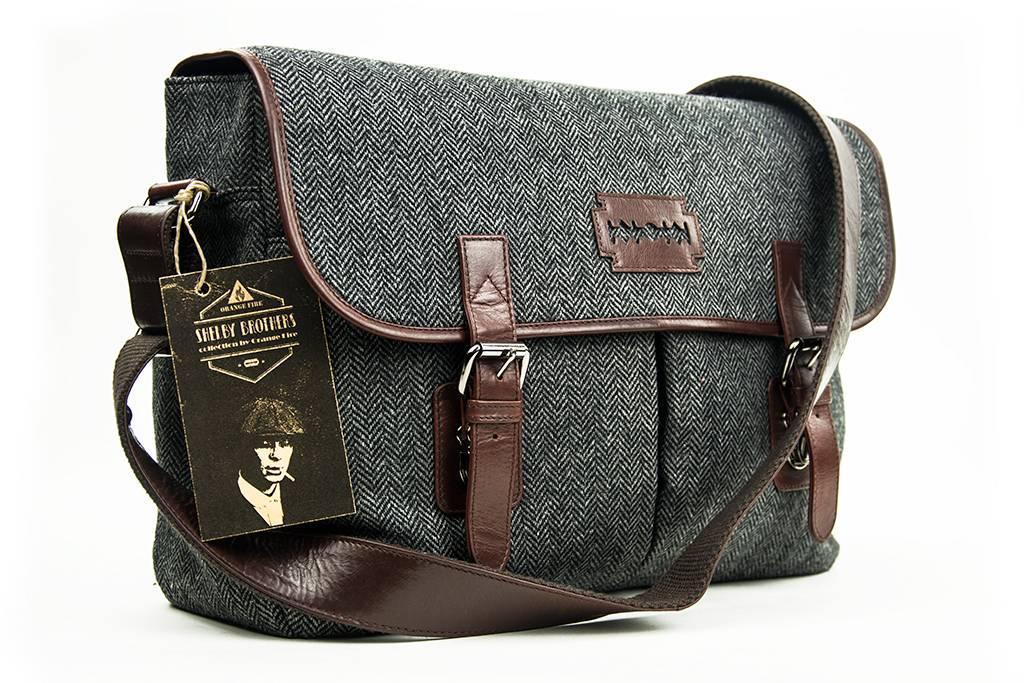 Curly - Tweed Messenger Bag - Grey/Brown