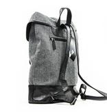 Danny - Tweed Backpack - Grey/Black