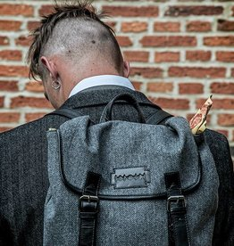 Danny - Harris Tweed Backpack Grey