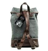 Charlie - Tweed Backpack Grey/Brown