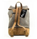 Isaiah - Harris Tweed Backpack - Grey/Brown