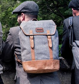 Isaiah - Harris Tweed Backpack Grey