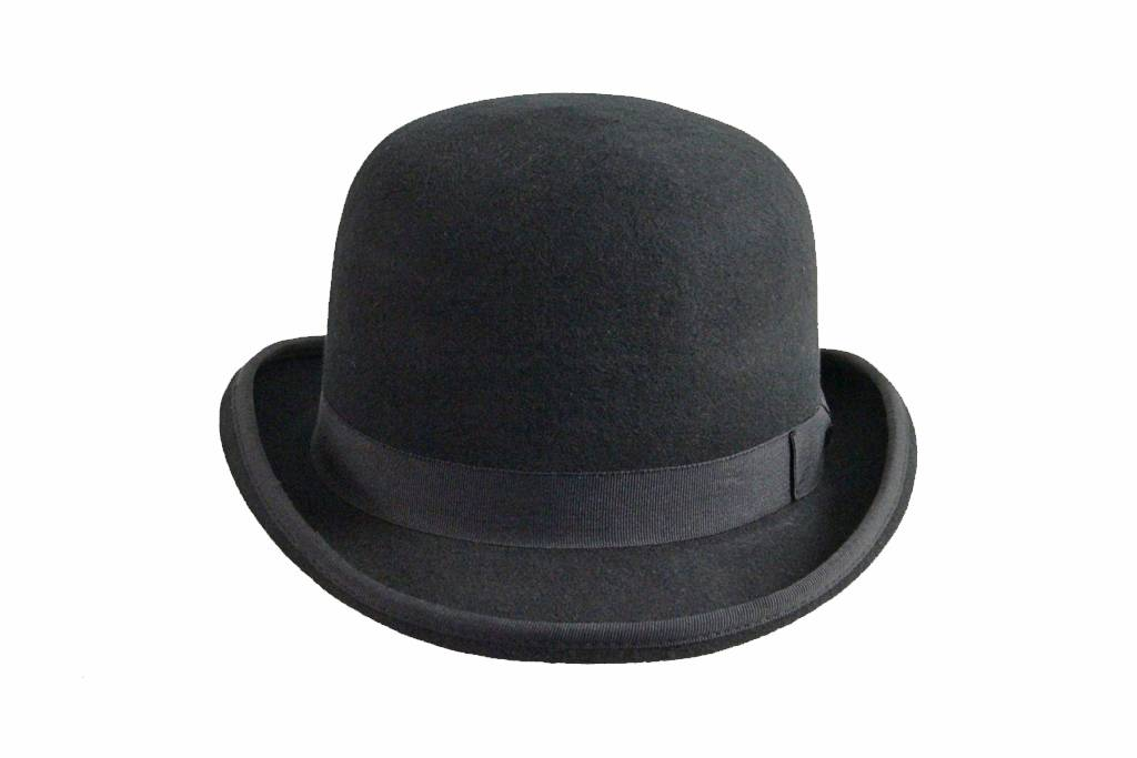 Campbell bowler-derby hat