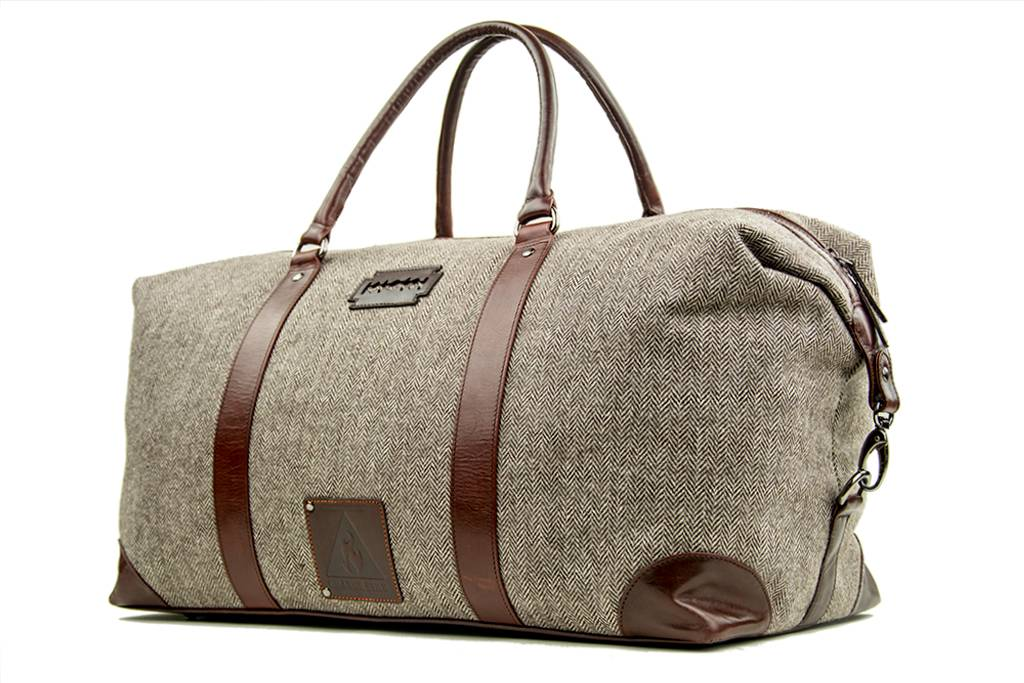 Birmingham - Harris Tweed Duffle Bag - Beige/Brown