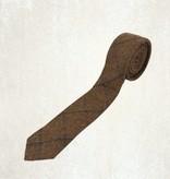 Tan tweed tie set Thomas
