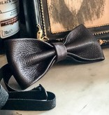 Leather bow tie  Arthur dark-brown