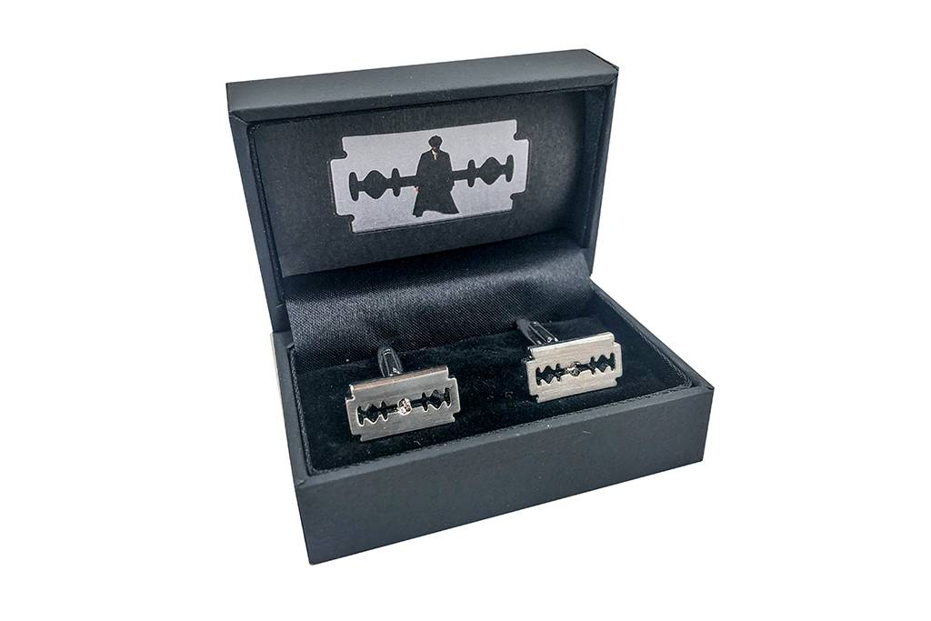 Cufflinks  Razor shaped