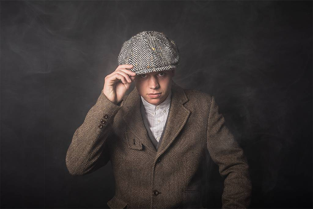 Shelby cap wool grey