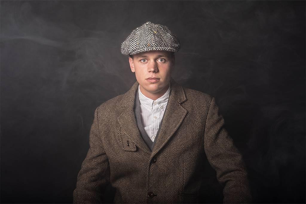 Shelby cap wool grey