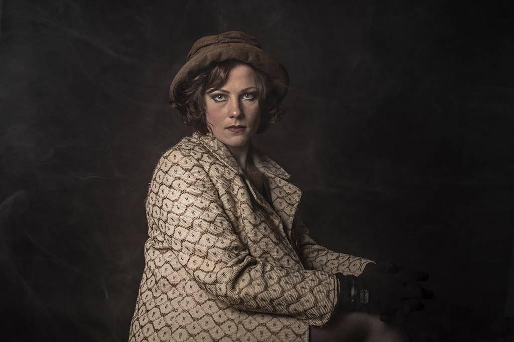 Auderey brown tweed