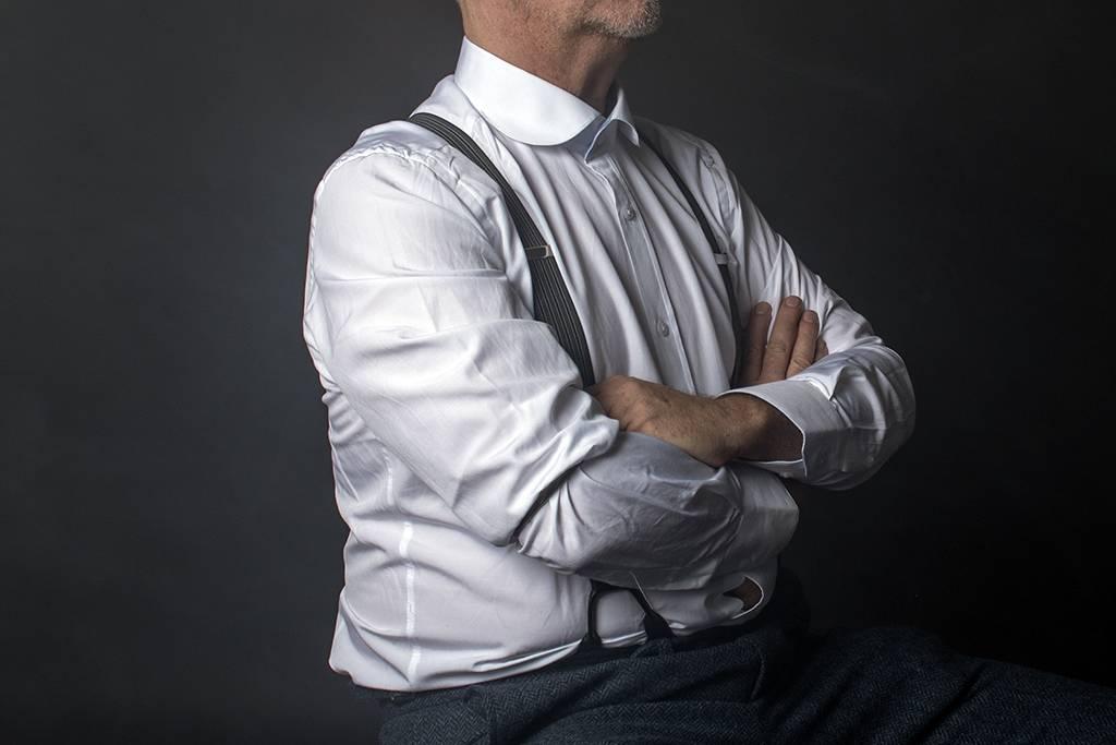 Round neck collar shirt