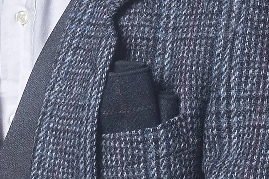 Arthur navy bow tie & pocket square