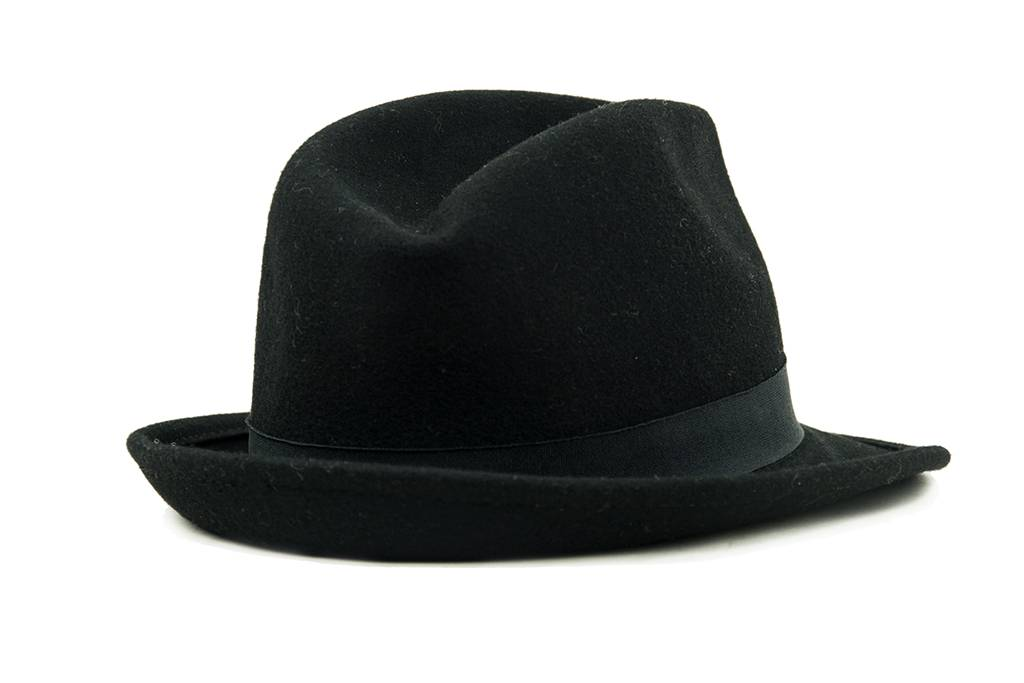 Curly trilby hat