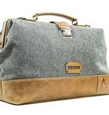 The Garrison  - Tweed Duffle Bag - Grey/Brown