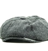 Shelby - Tweed Flat Cap - Dark Grey