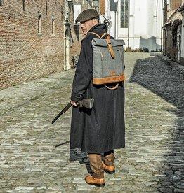 Johnny - Tweed Roll Top Backpack Grey