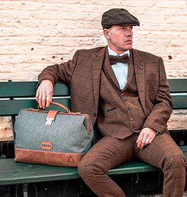 The Garrison  - Harris Tweed Duffle Bag Grey