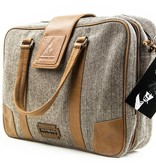 Arthur - Tweed Laptop Bag Brown/Beige