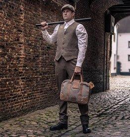 Arthur - Tweed Laptop Bag Brown/Beige