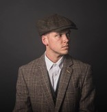 Shelby cap deluxe brown-blue